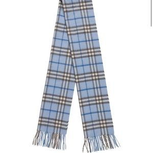 Blue and Multicolor Burberry Cashmere Scarf